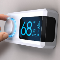 Setting home thermostat